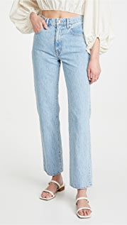 SLVRLAKE London High Rise Straight Jeans