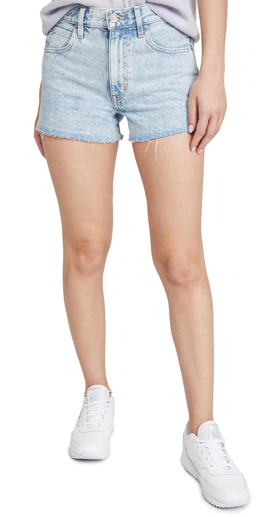 Slvrlake Farrah Relaxed Cutoff Denim Shorts In Time Worn