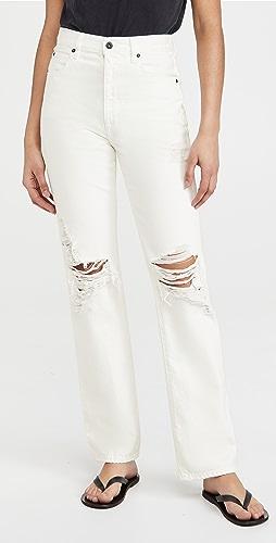 SLVRLAKE - London White Destructed Jeans