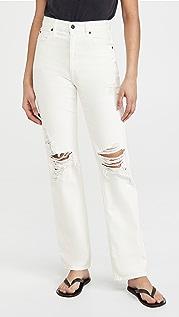 SLVRLAKE London 白色解构主义牛仔裤