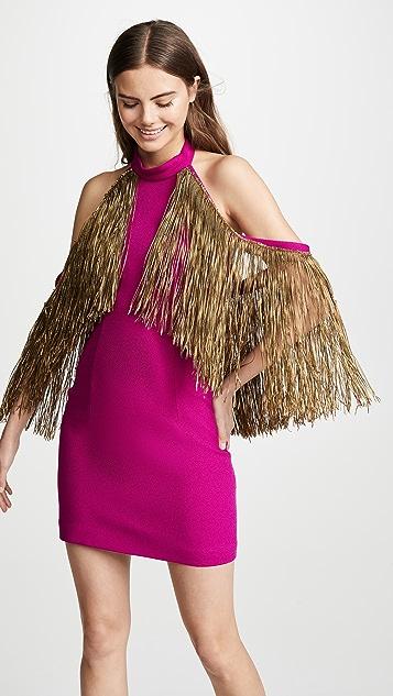 Sandra Mansour Fringe Mini Dress