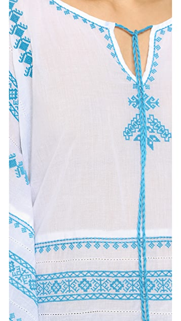 Star Mela Letti Embroidered Top
