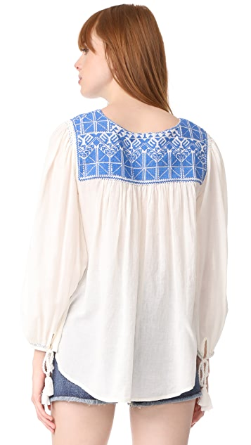 Star Mela Vero Embroidered Top