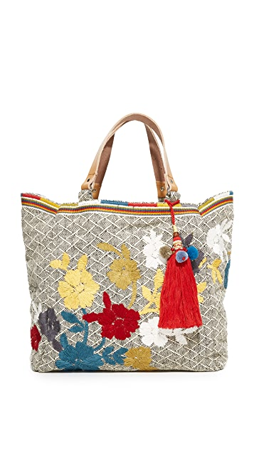 Star Mela Amaris Embroidered Tote