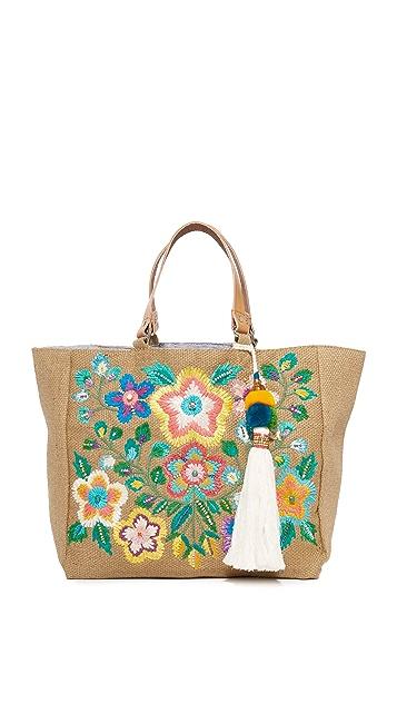 Star Mela Flori Embroidered Tote