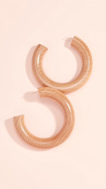 Sophie Monet The Large Pine Hoops