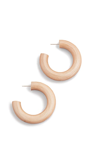 Sophie Monet The Small Pine Hoops