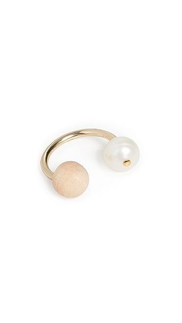 Sophie Monet 珍珠尖头戒指