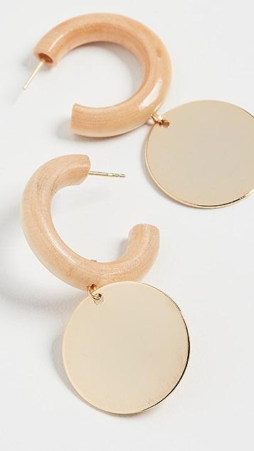 Sophie Monet 圆牌中号圈式耳环