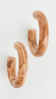 Sophie Monet The Olive Wood 圈式耳环