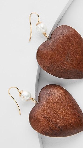 Sophie Monet The Wood Heart Earrings
