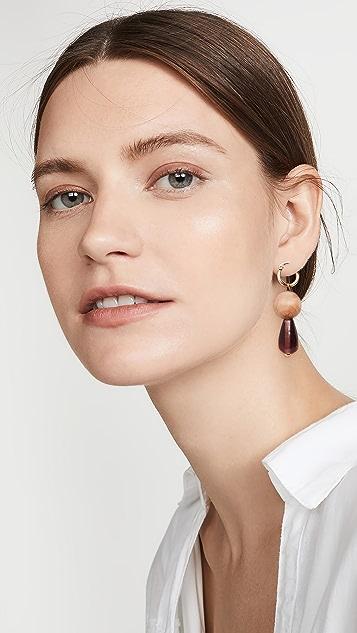 Sophie Monet Drip Huggie 圈式耳环