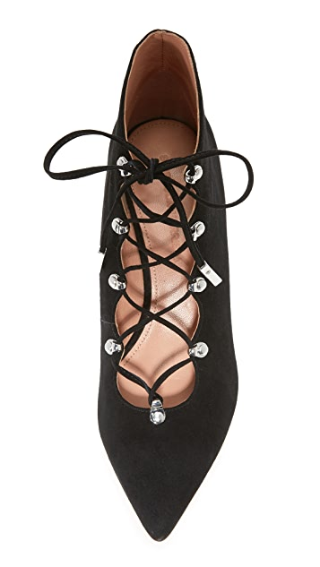 Sigerson Morrison Wing Lace Up Wedge Pumps