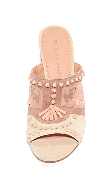 Sigerson Morrison Phillip Embroidered Mules