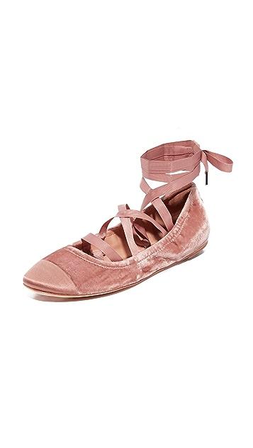 Sigerson Morrison Charlotte II Velvet Ballet Flats ...