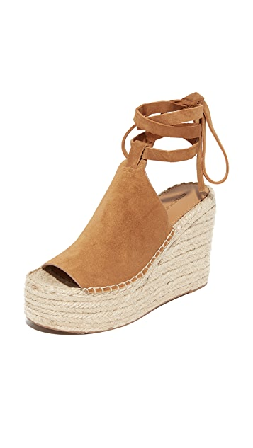 Sigerson Morrison Leather Espadrille Wedges pick a best for sale sale get to buy sale good selling outlet nicekicks UHKM891PM