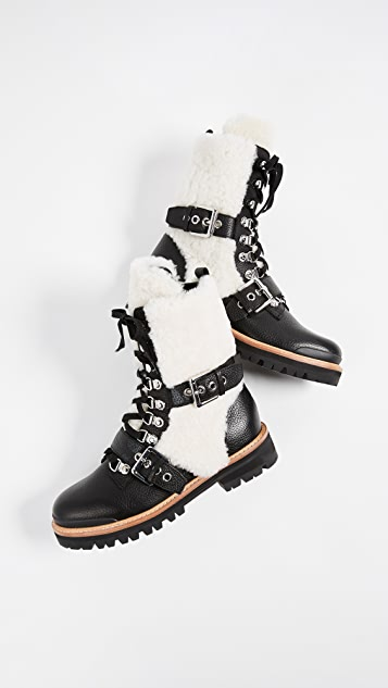 Sigerson Morrison Iris Shealing Buckle Boots