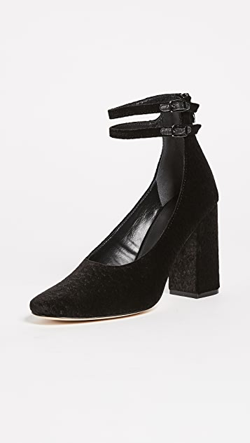Sigerson Morrison Plum Ankle Strap Pumps - Black