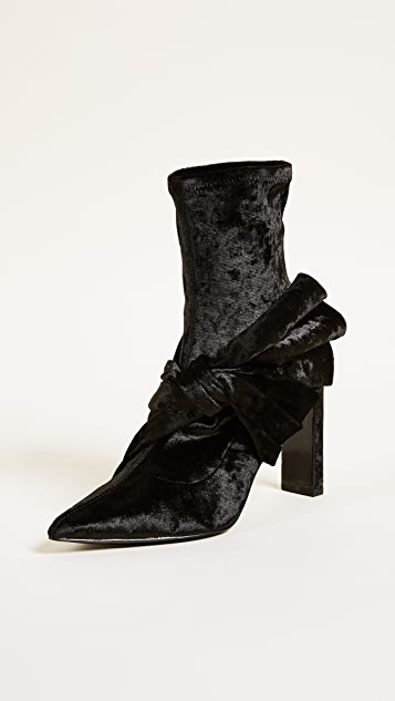 Sigerson Morrison Helin Bow Ankle Booties