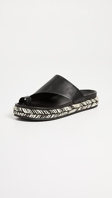 Sigerson Morrison Laddie Asymetrical Slides - Black