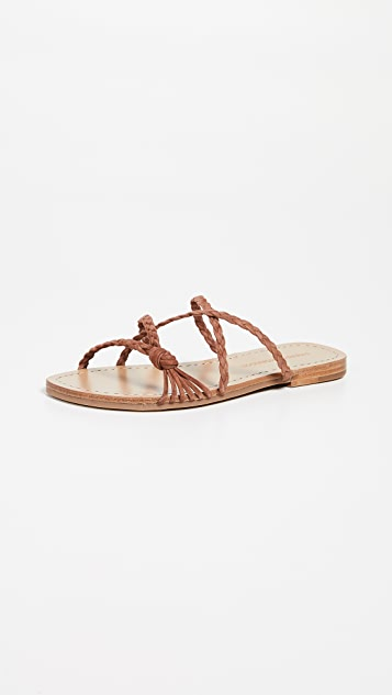 Sigerson Morrison Brock Braided Slides