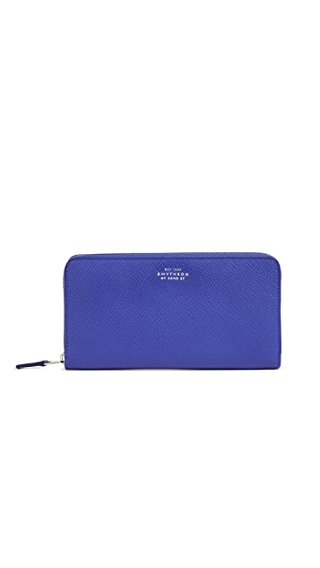 Smythson Panama Zip Around Purse