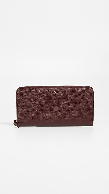 Smythson Panama Zip Around Wallet