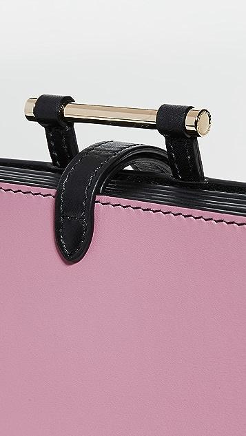 Smythson Миниатюрный кошелек Concertina с ремешком на запястье