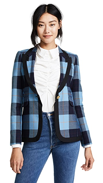 SMYTHE Taped Peaked Lapel Blazer
