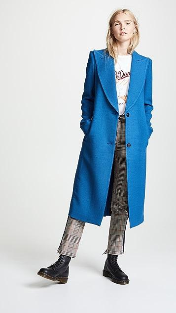 SMYTHE Peaked Lapel Coat