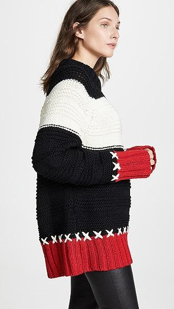 SMYTHE Cross Stitch Crew Neck Sweater