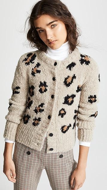 SMYTHE Intarsia Granny Alpaca Cardigan