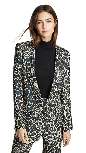 SMYTHE Long Notched Shawl Blazer