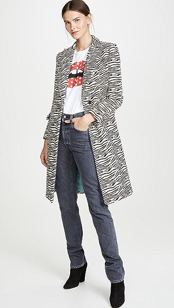 SMYTHE Peaked Lapel Overcoat
