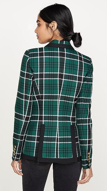 SMYTHE 织带尖翻领夹克