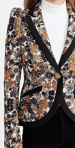 SMYTHE - Taped Pouf Sleeve One Button Blazer