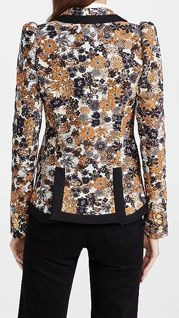 SMYTHE Taped Pouf Sleeve One Button Blazer