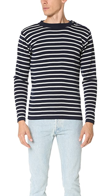 S.N.S. Herning Naval Button Crew Neck Sweater