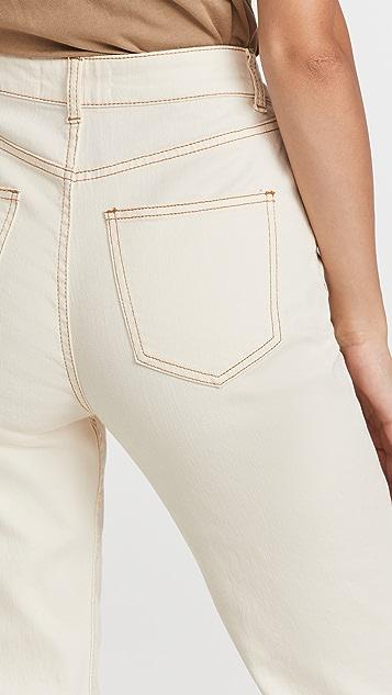 Something Navy Straight Leg Mom Jeans