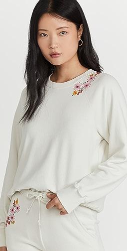 Something Navy - Embroidered Crew Neck Sweatshirt