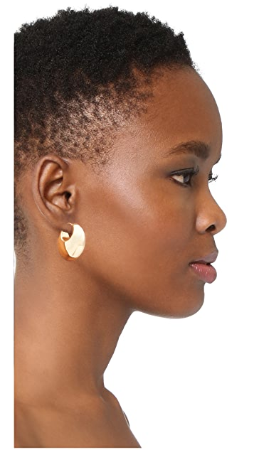 Soave Oro Bombe Round Hoop Earrings