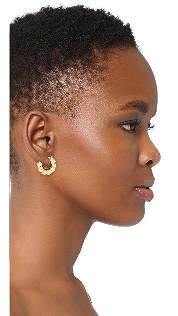 Soave Oro Graduated Bold Twist Earrings