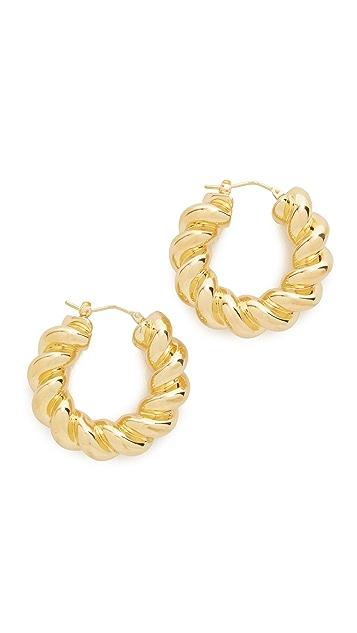 Soave Oro Torchon Hoop Earrings