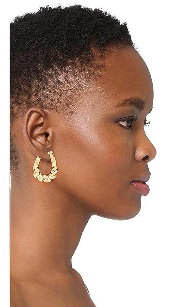 Soave Oro Graduated Twisted Oval Hoop Earrings