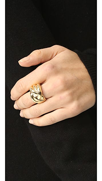 Soave Oro Knot Ring