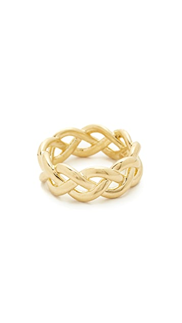 Soave Oro Shiny Braided Ring