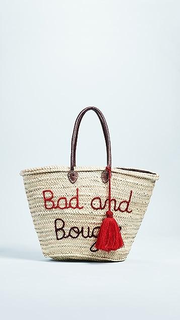 Soeur Du Maroc Bad & Bougie Straw Tote
