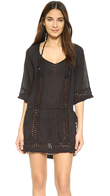 Kenneth cole reaction empirewaist dress cover up in navy