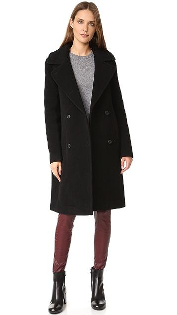 Soia & Kyo Farrah Coat with Fur Trim