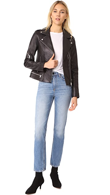 Soia & Kyo Jasmina Moto Leather Jacket